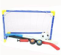 Toplar ve Pompa Uygulaması Scrimmage Oyun Futbol Oyuncak Seti Açık rekreasyon ile 2 1 Outdoor / Kapalı Çocuk Spor Futbol Buz Hokeyi Hedefleri