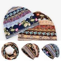 Женская тюрбанская химиотерапия шляпа флористический принт Внутренние хиджабы головные уборы шапки мягкие сочетания идиллические головные угловые шарики шарфы