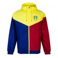 2020 2021 Leeds adultos con capucha invierno de la chaqueta cazadora cortaviento cremallera secado rápido capucha de la chaqueta deportiva de fútbol Correr chaquetas