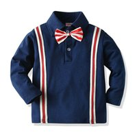 Küçük çocuğun T-Shirt Bahar Sonbahar Çocuklar Tshirt Moda Gentry Çocuk T-shirt Uzun Kollu Polo's Yaka Tshirt
