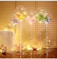 LED-Ballons Lichtstring Leuchtende transparente Bobo-Ballon-Standkinder Favor Spielzeug für Hochzeit Geburtstagsfeier Fastival Dekoration