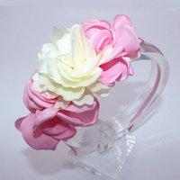 Accesorios para el cabello Moda Hermosa Flor Hairbands Kids Headbands Banda de niños Tiara para niñas1