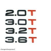 Gloss Black Red T 1.8T 2.0T 3.0T 3.2T 3.6T Багажник значки эмблемы Значок эмблемы для Audi A4 A4 A6 A7 A8 S3 S4 R8 R8 RSQ5 Q5 Q5L A6L