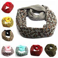 9 stili lavorato a maglia sciarpa del leopardo Donna Lana Autunno Inverno caldo Knitting Sciarpe Crochet Buff stampato modo Bandana LJJP595