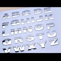 1 stücke autoaufkleber silber schwarz kreative 3d buchstaben a-z / 0-9 emblem digital figure nummer chrom diy auto styling metall aufkleber