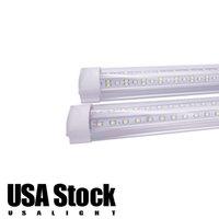 8FT 쿨러 도어 LED 튜브 T8 통합 LED 튜브 100W 144W 6000K 투명 커버 양면 LED 조명