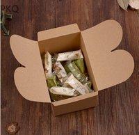 Подарочная обертка 20шт белый / черная коричневая бумага конфеты конфеты классические коробки свадебные дна рождения годовщины пользу картонной упаковки