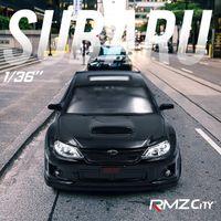 RMZ City 1:36 سوبارو wrx sti سيارة التصميم مرخصة دييكاست سيارة نموذج لعبة سبيكة معدنية عالية محاكاة لجمع / هدايا LJ200930