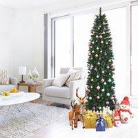 WACOの人工的なクリスマスツリー、7.5フィートのフル吹き松の木の先端ペンホルダー、簡単な組み立て折りたたみ式のスタンドお祝い装飾
