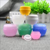 Ücretsiz Kargo 5 g / ml Plastik Boş şişe kavanoz Pembe Temizle Mavi Krem Göz Jeli Küçük Ruj Numune Kozmetik Konteynerleri