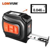 Lomvum LTM USB Nastro laser ricaricabile Laser Distance Misuratore in tempo reale DADA 40 / 60M Laser RangeFinder 5M Nastro LCD Digital New T200603