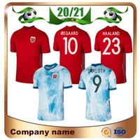 20/21 النرويج Soccer Jerseys 2021 Home Red # 23 Haaland Nation Team Soccer Shirt Sørloth Ødegaard Berge Football Oechs