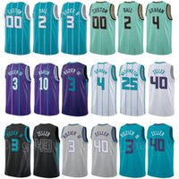 City Edition Edition مطبوعة كرة السلة Lamelo Ball Jersey 2 Gordon Hayward 20 Terry Rozier III 3 Devonte Graham 4 الأرجواني الأزرق الأخضر الأبيض