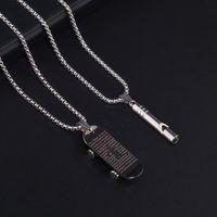 Ketten-Roller-Halskette-Schriftkreuz-Kreuz-Männer Titan-Stahl-Anhängerpfeife Mode-Accessories-Trend