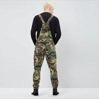 Nova Moda Camuflagem Design Jeans Denim Macacões Homens Casual Lavagem Skinny Bib Macacões Jeans Masculino Jumpsuit Jean Pant1