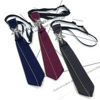 Британский Корейский ручной Bow Tie Колледж Стиль Рубашка Star Rhinestone Боути Малый Tie Бизнес Свадебный банкет Unisex Аксессуары