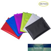 100 PCS Colorful Aluminum Foil Flat Bottom Mylar Bags Top Feed Foil Zip Lock Food Pouch Tea Pouches,Food Storge Bag