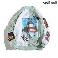 UNA Reta Ceketler Erkek Yeni Hip Hop Marka Ince Eşofman Ceket Moda Rahat Streetwear Adam Desen Dikiş Beyzbol Ceket T200502