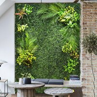 الزهور الزهور أكاليل diy مصنع الجدار الاصطناعي 2MX1M البلاستيك المنزل حديقة التلفزيون خلفية متجر مول الديكور الأخضر السجاد العشب جو
