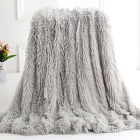 Coral Fleece Blanket for Sofa Bed Luxury Two-faced Bedspread for Winter Bed Warm Plush Women Wrap Blankets Travel Nap Sofa Throw