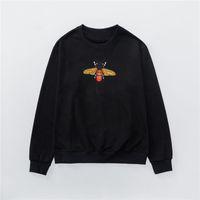 Brasão de alta qualidade Men Elegante Magro Vintage capuz Mens Womens Outono Inverno Bee Bordado Camisola Sweat Mulheres Cotton Terry Shirts