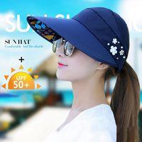 حافة واسعة القبعات البائع الصيف النساء الشاطئ قبعة الشمس في الهواء الطلق المشي لمسافات طويلة التخييم طوي 1