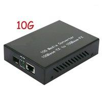 Réservateur de fibre optique 10G Convertisseur photoélectrique LC Interface LC Ethernet SFP Multi-Sing-Mode Dual-Fibre RJ451