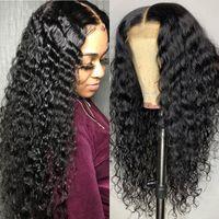 Base de seda rizada brasileño Peluca de cabello humano sin glóvía 13x6 encaje Peluca de cabello humano con cabello bebé Pelucas frontales de encaje pre-arcadas 130% Densidad