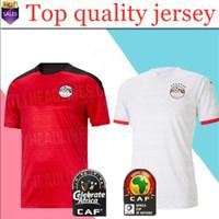2020 2021 Egitto Calcio Jersey M. Salah Home Rosso Away Bianco 20 21 Kahraba A. Egazi Ramadan M.Elneny Uniformi Maglie da uomo Camicie da calcio