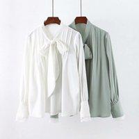 2021 Новое Прибытие Полное шифоновое платье в оптовых темпераментах кружева рубашки рубашки женские блузки топы YLRC