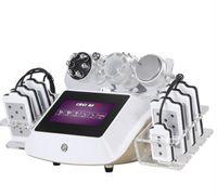 최고의 품질 L 6in1 40K Cavitation Machine RF 얼굴 조임 체중 감소 진공 초음파 레이저 패드 아름다움 장비 좋은 효과