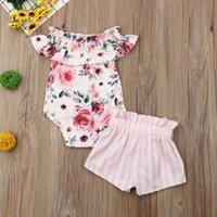 Pudcoco Baby Girl Vestiti neonato per femmina vestiti abbigliamento infantile set estate fiore stampa floreale pulsante moda principessa LJ201223
