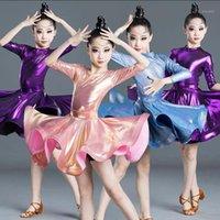 Escenario desgaste niños rendimiento práctica latino vestido de baile trajes de vestir competencia niños salón salsa salsa bailando ropa1