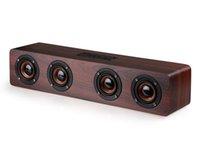 En bois HIFI Bluetooth haut-parleurs haut-parleurs professionné haut-parleur entourer le lecteur de musique en bois sans fil pour ordinateur de téléphone 1pcs dhl