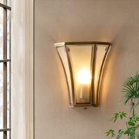 Éclairage mural de cuivre moderne pour salon lampe murale de luxe en verre de luxe pour la pièce de passage de la chambre à la maison Lampe murale intérieure AC 110V 220V