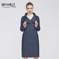 MIEGOFCE 2021 Новая весенняя коллекция Женская пальто Теплая куртка с средней длиной и устойчивым воротником имеет двойную холодную защиту