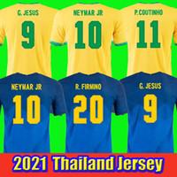 2020 Firmino G. Jesus Homens + Kid Futebol Jerseys National Team Neymar Jr Fabinho Richarlison Marquinhos Futebol Camisa