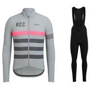 Гонки зима Raphaing RCC 2021 Велоспорт Куртка Костюм Мужчины Теплый Флис Велосипед Джерси Ciclyng Bib Набор Trajes Campera Chaque Ciclismo