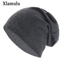 بيني xlamulu الخريف skullies قبعة الصلبة لينة النساء الشتاء القبعات للرجال قبعات الذكور بوني نت قناع الرجال قبعة الصوف الإناث كاب 1