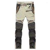 Pantalones al aire libre Patchwork fino seco rápido Seco más tamaño Senderismo Pantalones Primavera Pesca de otoño montañismo Moisture Absorción Pantalones1