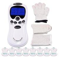 Elektrische Tens Massierergehäuse AkupunkturMassager Muskelstimulator Digital-Therapie-Maschine 8 Elektrodenpads Massage Socken Handschuhe