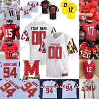 Maryland Terrapins Football Jersey NCAA College Josh Jackson McFarland Jr. Keandre Jones Pigrome Moore Davis Heyward-Bey Peny Boone Jarrett