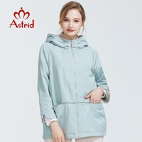 Astrid Mulheres Primavera New Collection Spring Spring Spring Size Big Size Trench Mulheres Casaco Mulheres Curto Moda Overcoat AS-6102 201015