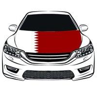 Qatar Nationalflagge Auto Hood Abdeckung 3.3x5ft 100% Polyester, Motor elastische Gewebe gewaschen werden können, Motorhaube Banner