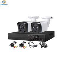 2ch DIY 보안 키트 야외 5.0MP Hiybird 시스템 모두 하나의 비디오 감시 세트 4ch hybird dvr 2pcs 방수 총알 카메라 나이트 비전 AS-MVK5804E-2F