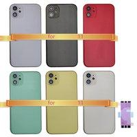 1pcsBack Gehäuse für iPhone 11 rückseitige Abdeckung Batterie-Tür hintere Abdeckung Chassis Mittelrahmen mit Glas für IPhone 11 Seitentasten