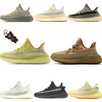 2020 PrimeKnit V2 Ice Silk estática reflexivos Running Shoes Originals Kanye West Tampão Foam Jogging Sneakers (Com Corrente Urso Key