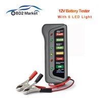 Mini 12V Car Battery Tester Digital Test Analyzer Generator Tester Auto Diagnostic Tool mit 6 LED-Leuchten für Auto Motorrad1