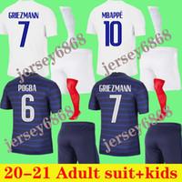 الكبار الاطفال كيت 2021 كرة القدم جيرسي مايلوتس كرة القدم mailleot equipe de 20 21 البنزيما mbappe grizmann قانتي بوجبا