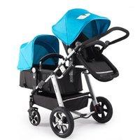 Lightweight Twin Baby Stroller High Landscape Dragon y Phoenix Segundo Niño Cochecito doble puede sentarse y acostarse doble1